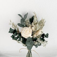 Preserved Rose bouquet, champagne long lasting rose bouquet, vintage flowers bouquet, babys breath b