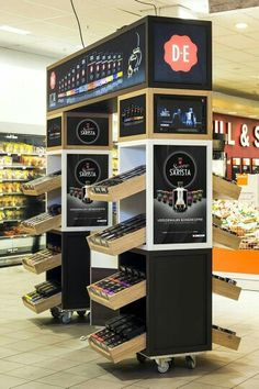 Douwe egberts stand by studiomfd, amsterdam store display, 2019 grafik tasa Shop Display Stands, Pop Display, Display Design, Booth Design, Display Shelves, Pop Design, Stand Design, Sketch Design, Design Concepts