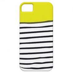 lime green stripe iPhone 5 case