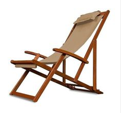 Details about Folding Wooden Chair Chairs Garden Deck Seat Sun Bed Lounger…
