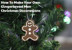 A tutorial on how to make oven bake clay Gingerbread Men Christmas Decorations. Hopefully it will inspire you to create and personalise some of your own ready for your Christmas tree or even as a gift tag.