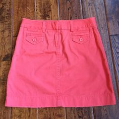 Jcrew Nantucket red weathered chino skirt Great condition. Weathered, broken in look J. Crew Skirts