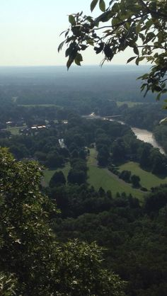 View on top of sugarloaf mountain in Heber springs Arkansas
