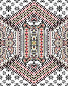 Border Tiles, Border Pattern, Border Design, Pattern Art, Pattern Design, Paisley Art, Cushion Cover Designs, Islamic Art Pattern, Baroque Pattern