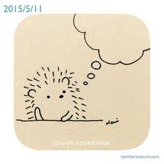 495 #illustration #hedgehog #イラスト #ハリネズミ #illustagram