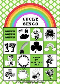 {St. Patrick's Day LUCKY BINGO & Free Printables}