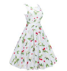 Women s Classy Audrey Hepburn 1950s Vintage Rockabilly Swing Dress 16d4820a4