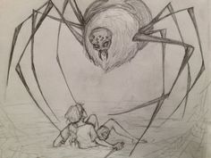 Worst enemy by ~megaraB on deviantART  I have hated spiders along side my sis. for longer than I can remember