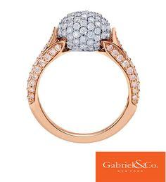 18k White/Pink Gold Diamond Ring by Gabriel & Co.