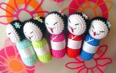 These are very cute Amigurumi, but the best part of this site is All the How to's, Links & Patterns on Japanese Crochet!