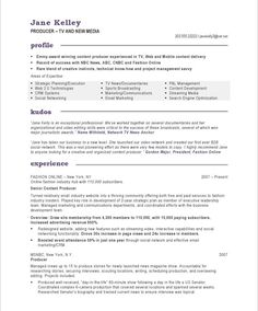 tvnew media producer page1 - Web Producer Resume