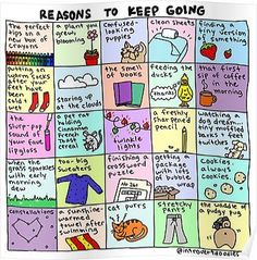 Reasons To Keep Going Poster