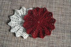 Crocheted coasters Crocheted doilies by AmiguRussia on Etsy