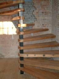 Reclaimed Douglas Fir Spiral Staircase