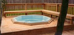 Hot tub on deck Hot Tub Deck, Outdoor Spaces, Outdoor Decor, Home Upgrades, Home Additions, Deck Design, Jacuzzi, New Construction, Gazebo