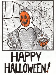 Happy Halloween everybody! Here is the 'Let's Chicken' gang celebrating Halloween in their own style. Happy Halloween - 2015 - Let's Chicken! Halloween 2015, Happy Halloween, Baby Chickens, Cute Babies, Spiderman, Deviantart, Let It Be, Superhero, Comics