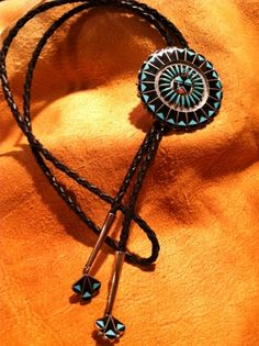 Turquoise and Silver Bolo Ties