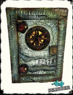 Altered Industrial Journal Cover with Decoart Media Fluid Acrylic & Mediums