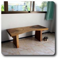 Natural Edge Wood Bench Thai Furniture