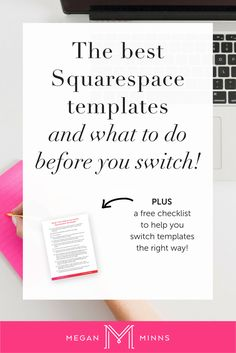 The Best Squarespace Templates (and what you need to do before you switch templates!)