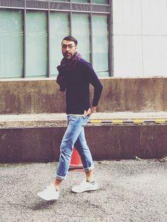 YosaKuginoさんのコーディネート Street Style 2018, Urban Street Style, Casual Outfits, Men Casual, Fashion Outfits, Korean Fashion Men, Mens Fashion, Mode Man, Le Male