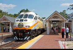 A southbound Sunrail train makes a brief stop at the new Sunrail passenger station, which is located next to the Amtrak station in Winter Pa. Commuter Train, Diesel Locomotive, Winter Park, Train Tracks, Florida Home, Train Station, Family Travel, Places To Go, Around The Worlds