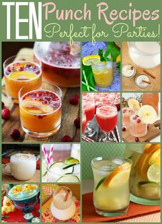 Make any party more fun with one of these 10 Party Punch Recipes! There's something for all ages and occasions, so you're sure to find a new drink to add to your next celebration.