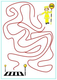Olivia Road Safety Maze Activity
