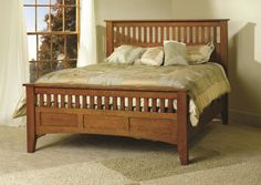 OFF Amish Furniture - Hand Crafted Shaker and Mission Furniture Online Outlet Store: Siesta Mission Bed: Oak Craftsman Furniture, Amish Furniture, Furniture Making, Shaker Furniture, Furniture Online, Furniture Stores, Pottery Barn Furniture, Cheap Bedroom Furniture, Mission Style Furniture