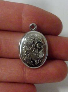 Sterling Silver Locket Pendant by onetime on Etsy, $6.25