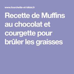Recette de Muffins au chocolat et courgette pour brûler les graisses