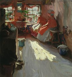 Abram Yefimovich Arkhipov - Spring day, (1913).  Masterpieces of Russian Painting