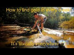 I am in new prospecting territory on private property and this creek looks crazy! i got gold in every single pan today, there is so much surface area to co. Gold Sluice Box, Treasure Hunt Clues, Treasure Hunting, Gold Mining Equipment, Metal Detecting Tips, Rock Identification, Gold Deposit, Gem Hunt, Panning For Gold