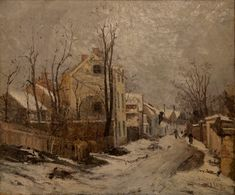 athousandwinds: Iarna la Barbizon (Winter in Barbizon), oil on canvas by Ion Andreescu, Romanian artist of landscapes and member of the Barbizon School of painting. Andreescu was one of founders of Romanian painting. Art Database, Oil Painting Reproductions, Winter Scenes, Artist Painting, Beautiful Artwork, Art And Architecture, Barbizon School, 15 Februarie, Bucharest
