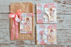 Butterfly gift sack + cards...