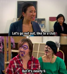 Miranda & Stevie can't keep up with Tamara Miranda Tv Show, Miranda Bbc, British Humor, British Comedy, I Love To Laugh, Make You Smile, Miranda Hart Quotes, Miranda Hart Funny, Club