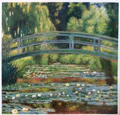 The Japanese Footbridge and the Water Lily Pool, Giverny - Claude Monet hand-painted oil painting reproduction, living room large wall art Winslow Homer Paintings, Monet Paintings, Original Paintings, Tom Thomson Paintings, Lily Painting, Oil Painting Reproductions, Environmental Art, Claude Monet, Large Wall Art