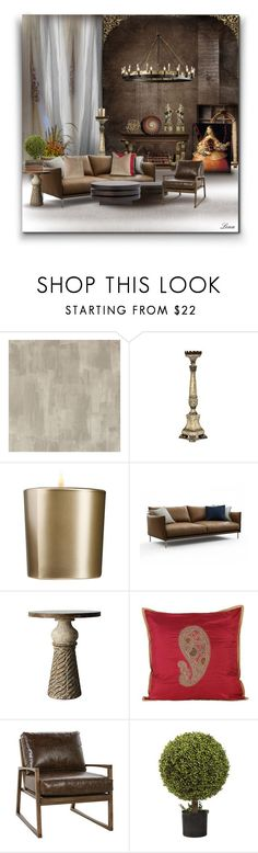 """""""Nostalgia for the Prado Museum"""" by lenadecor ❤ liked on Polyvore featuring interior, interiors, interior design, home, home decor, interior decorating, Designers Guild, Armani Beauty, NOVICA and Nearly Natural"""