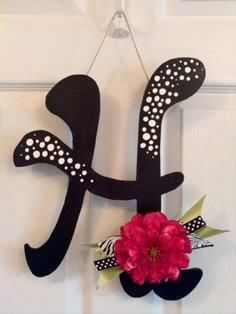 Hanging letter for wall...want this for my bedroom door