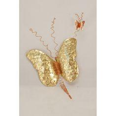 """Διακοσμητικό """"Πεταλούδα τοίχου"""" Iris, Wall Decor, Butterfly, Clay, Diy Crafts, Drop Earrings, Metal, Artwork, Party Ideas"""
