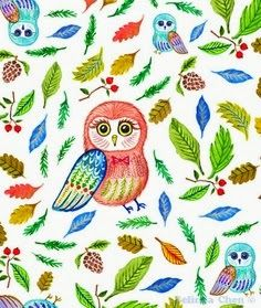 Owl and Leaf (Quilt?)