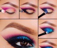 Pink And Blue Smokey Eye Tutorial