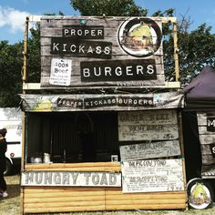 Hungry Toad Hand Pressed Burger Street Food Stall
