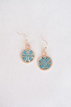 turquoise tory burch earrings $14