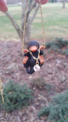 Image of Harry Potter, Fantastic Beasts and Where to Find them inspired, Niffler necklace