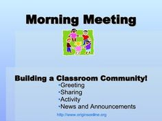 Morning Meeting Greetings -- Responsive Classroom (PBIS-strategy)