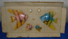 Vintage Wall Fish from the 1960s Just like Gramma had on her bathroom wall. Still mounted on original packaging. fun Eye Catcher Wall pocket on Etsy, $27.70