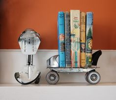 Such a fun idea for book shelves