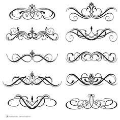 Digital Clipart Clip Art Flourish Swirls by MayPLDigitalArt Swirl Design, Web Design, Caligrafia Copperplate, Cliparts Free, Clip Art, Lettering Styles, Scroll Design, Graphic, Swirls