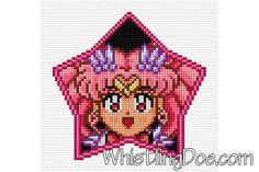 Super Sailor Chibi Moon Cross Stitch Pattern by WDPatterns on Etsy